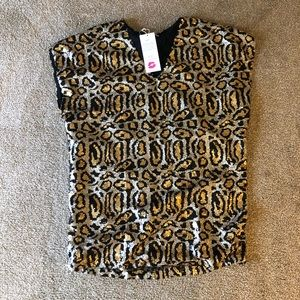 """Buddy love"" sequins leopard print box dress."